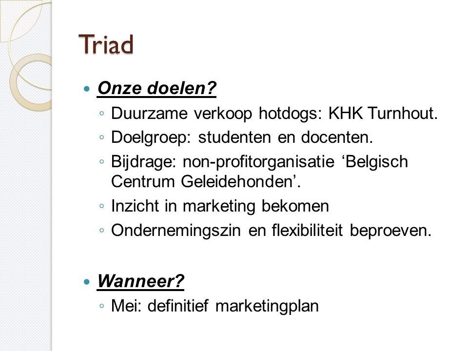 Triad Onze doelen Wanneer Duurzame verkoop hotdogs: KHK Turnhout.