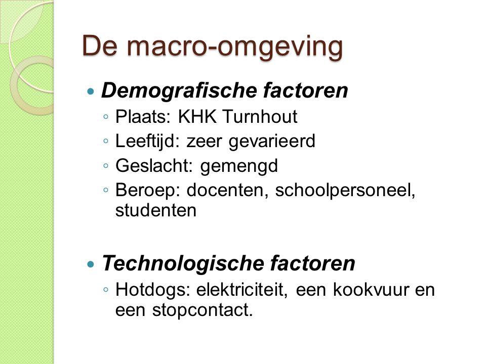 De macro-omgeving Demografische factoren Technologische factoren