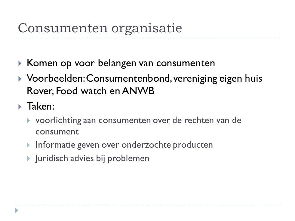 Consumenten organisatie