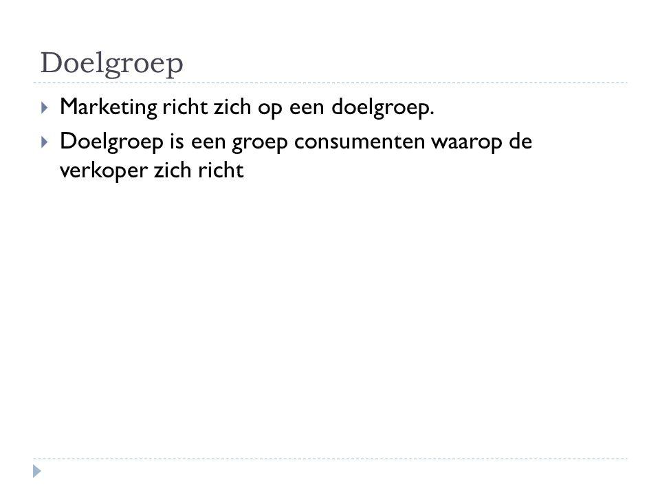 Doelgroep Marketing richt zich op een doelgroep.