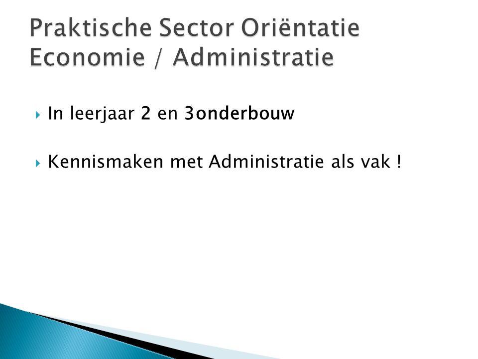 Praktische Sector Oriëntatie Economie / Administratie