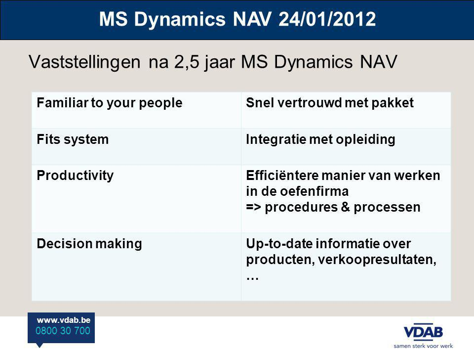 Vaststellingen na 2,5 jaar MS Dynamics NAV