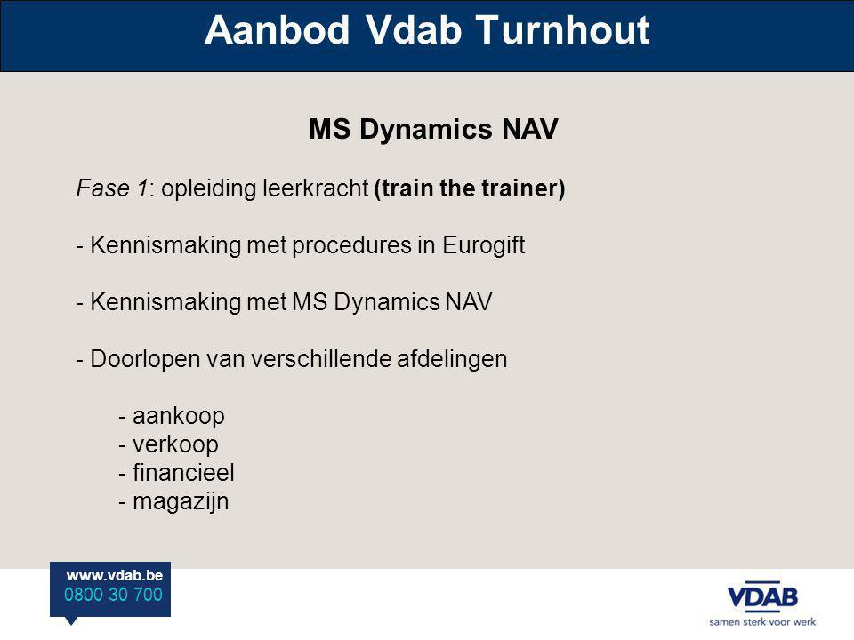 Aanbod Vdab Turnhout MS Dynamics NAV