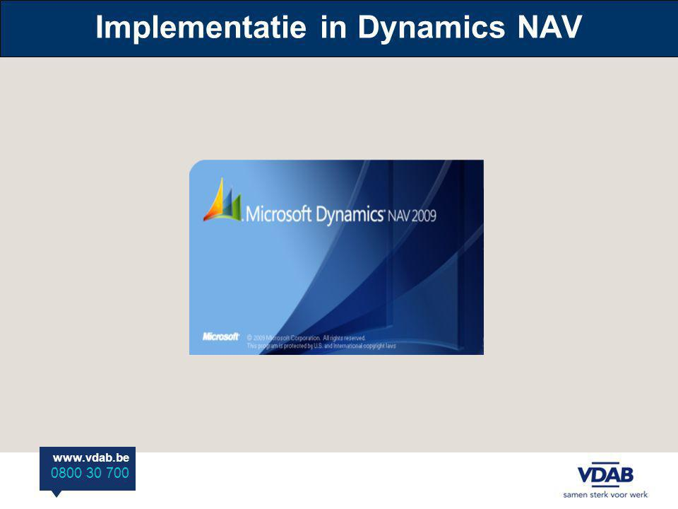 Implementatie in Dynamics NAV
