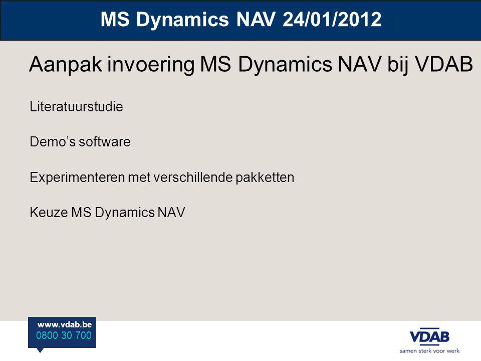 Aanpak invoering MS Dynamics NAV bij VDAB