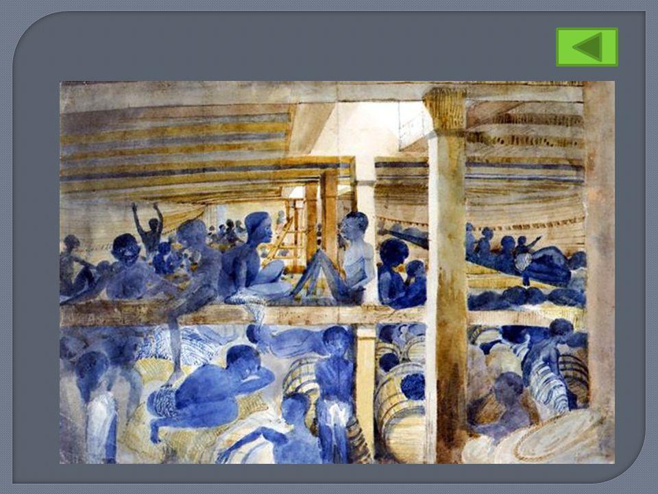 In deze nauwe ruimten brachten ze echter alleen de nachten door; overdag was het hun toegestaan in de frisse lucht aan dek te verblijven. Over de reis naar Suriname vertelt Nettelbeck: Na de maaltijd (omstreeks tien uur s morgens) en nadat het dek met zeewater bevochtigd is, laat men het hele slavenvolkje in rijen en dicht naast elkaar neerknielen en iedereen krijgt een Hol- landse baksteen in de hand, waarmee ze het dek, in de maat, van voren naar achteren moeten schuren.