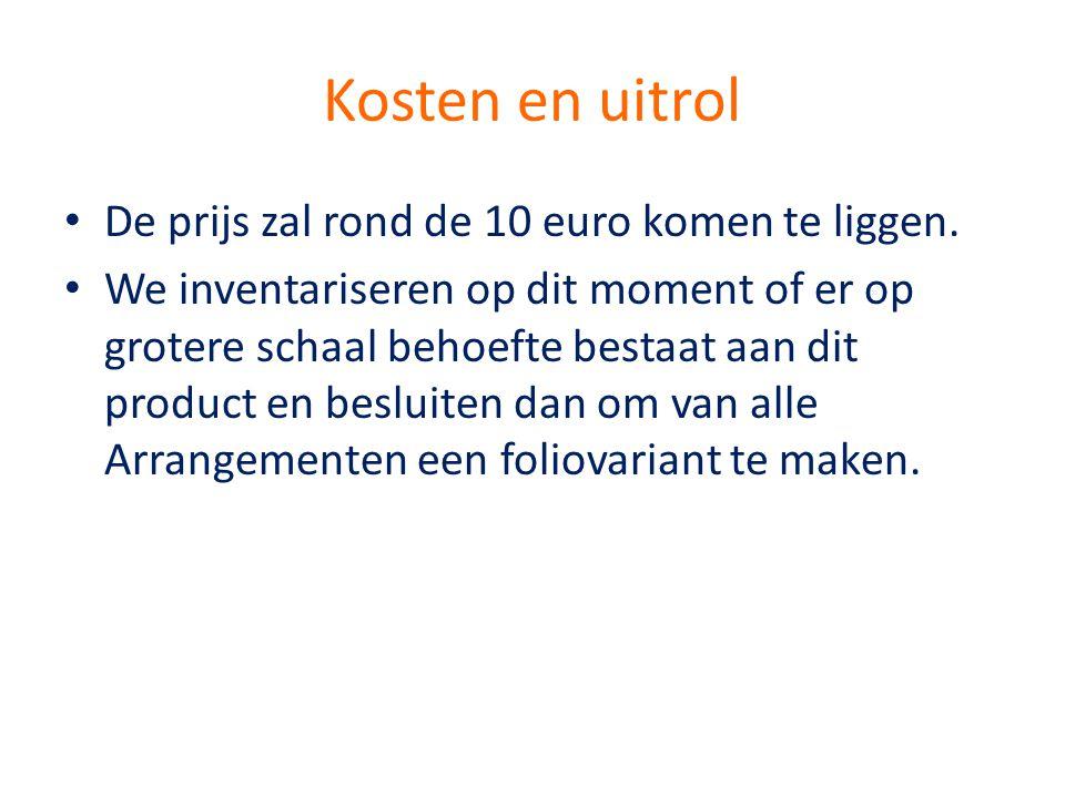 Kosten en uitrol De prijs zal rond de 10 euro komen te liggen.