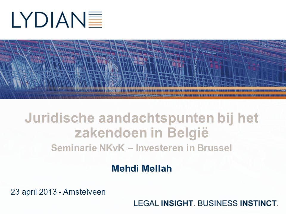 Juridische aandachtspunten bij het zakendoen in België