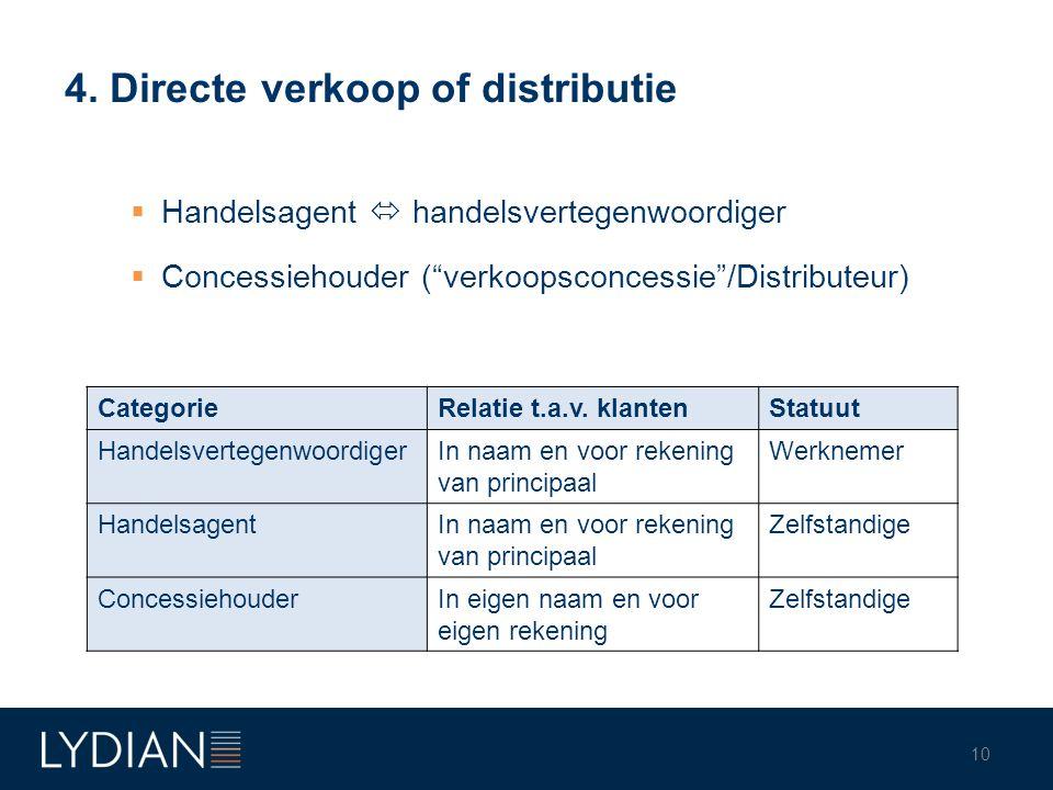 4. Directe verkoop of distributie