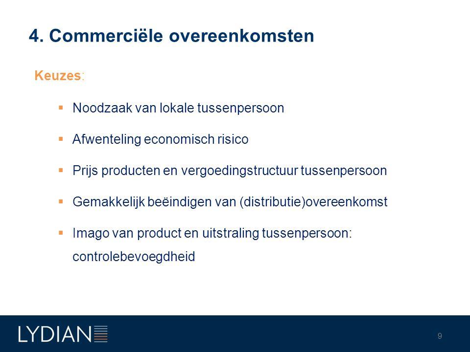 4. Commerciële overeenkomsten