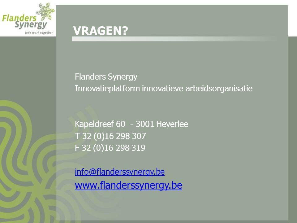 VRAGEN www.flanderssynergy.be Flanders Synergy