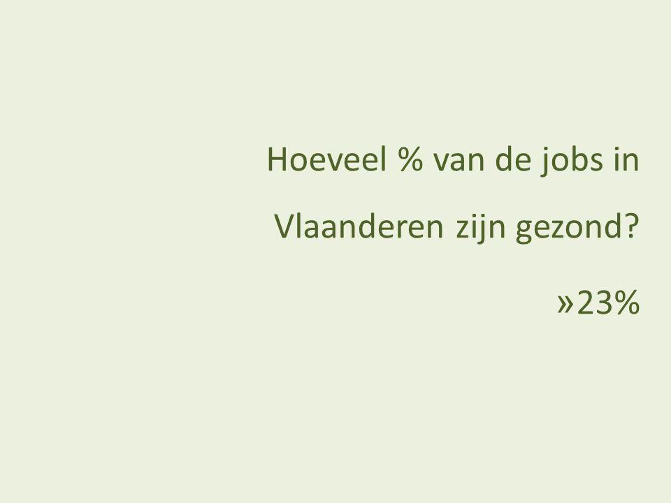Hoeveel % van de jobs in Vlaanderen zijn gezond