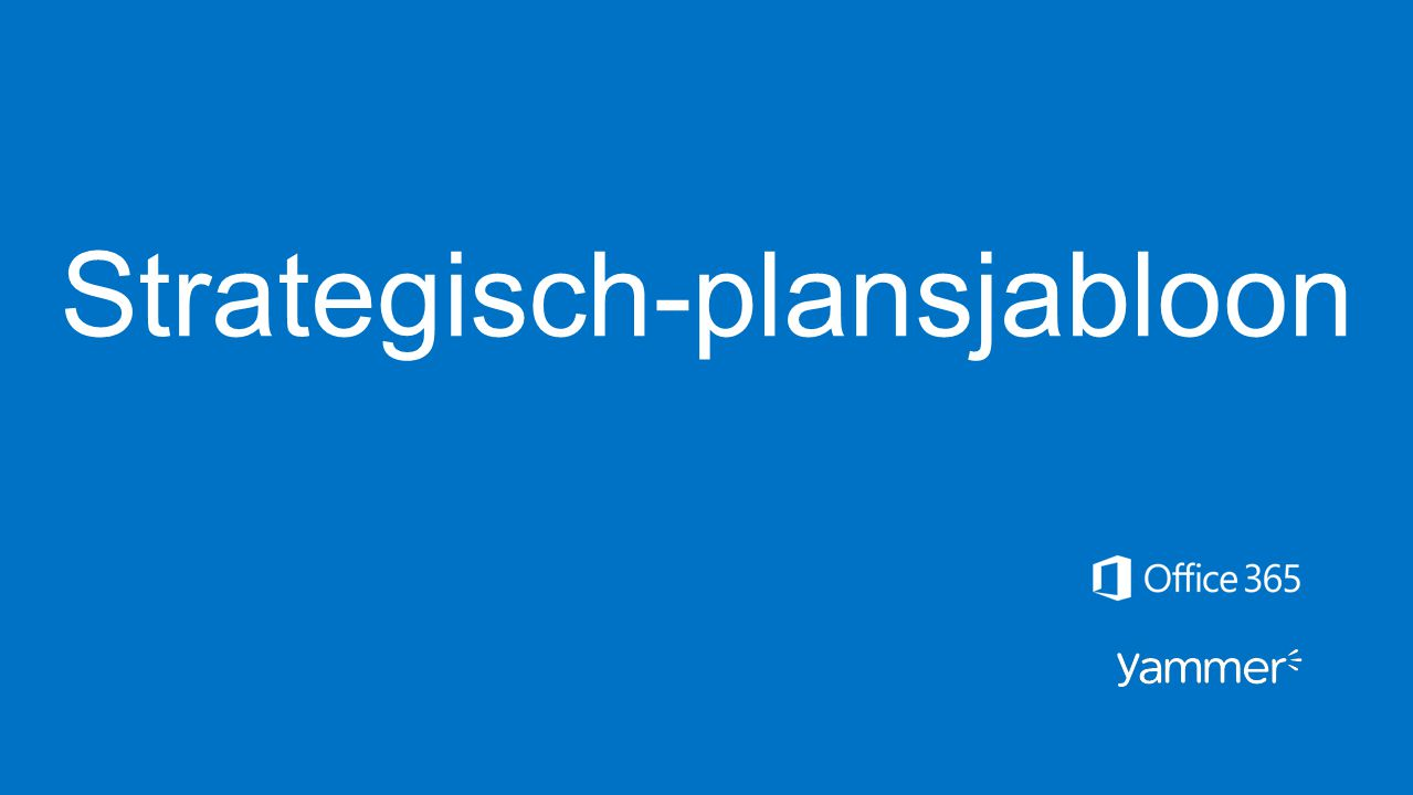 Strategisch-plansjabloon