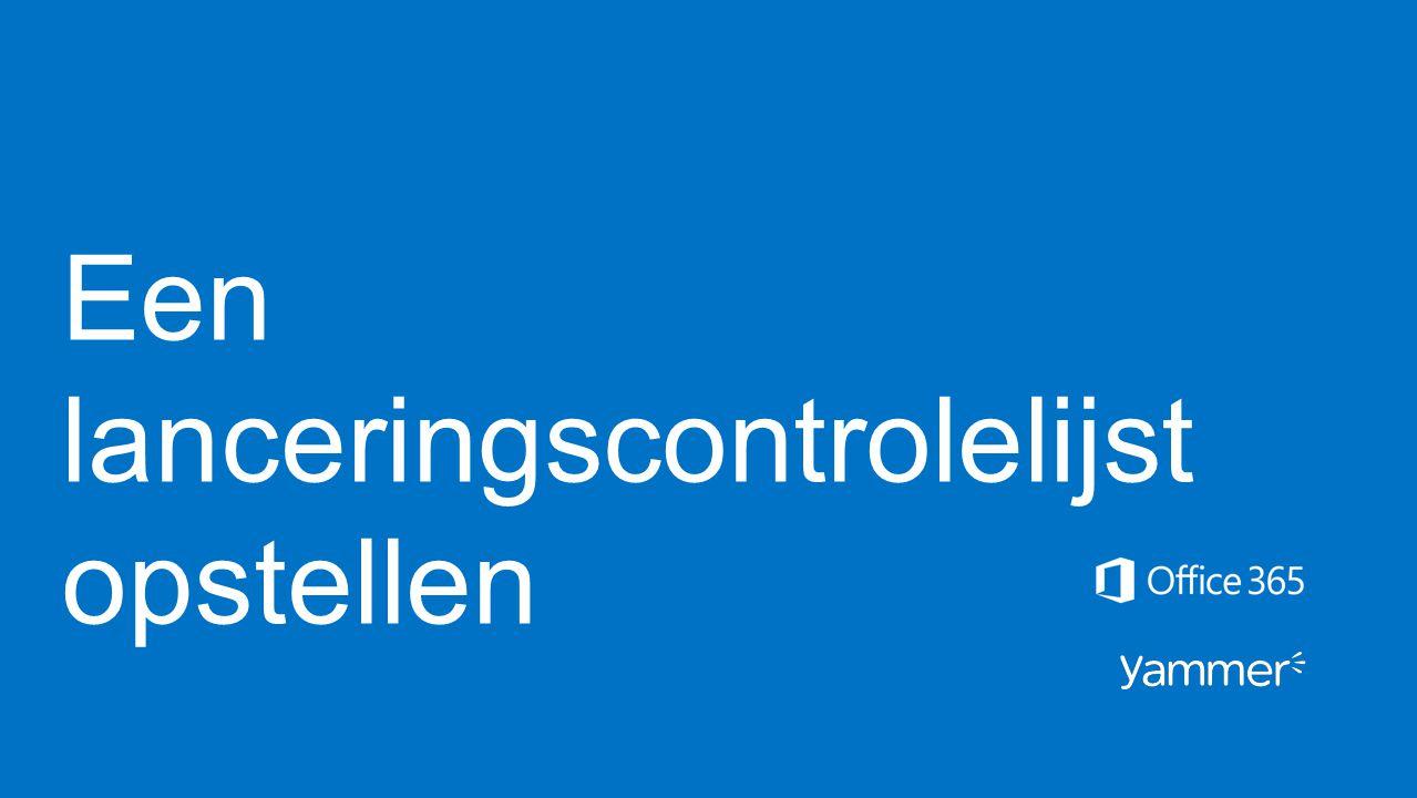 Een lanceringscontrolelijst opstellen
