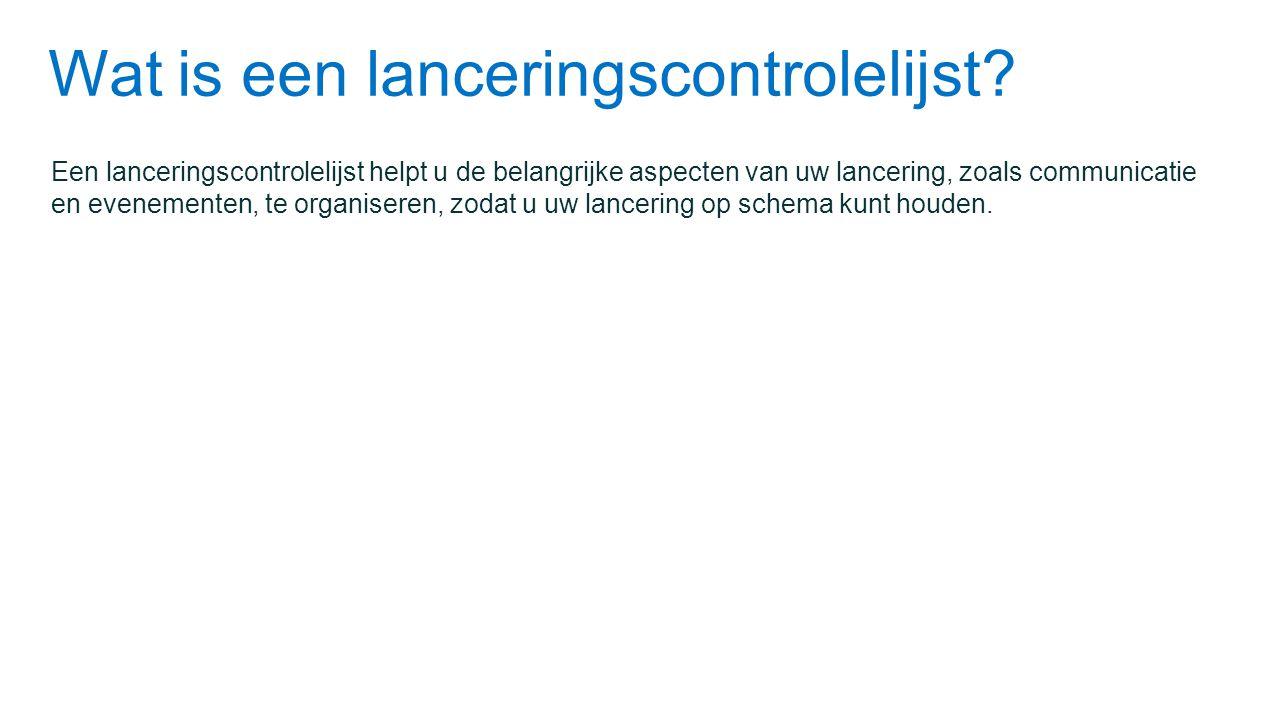 Wat is een lanceringscontrolelijst