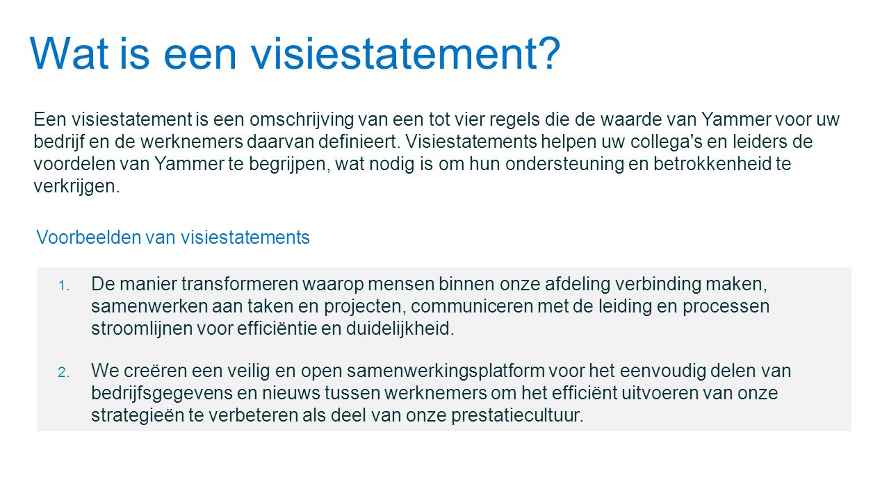 Wat is een visiestatement