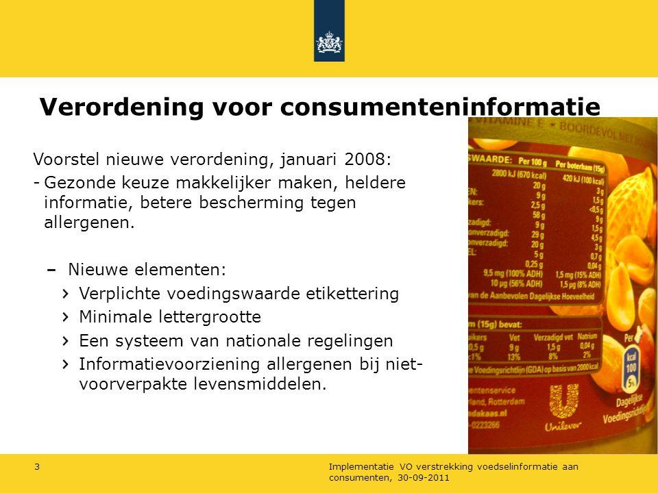 Verordening voor consumenteninformatie