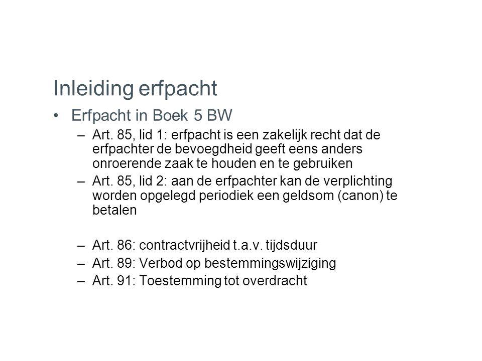 Inleiding erfpacht Erfpacht in Boek 5 BW