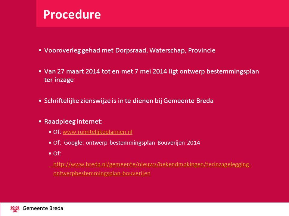 Procedure Vooroverleg gehad met Dorpsraad, Waterschap, Provincie