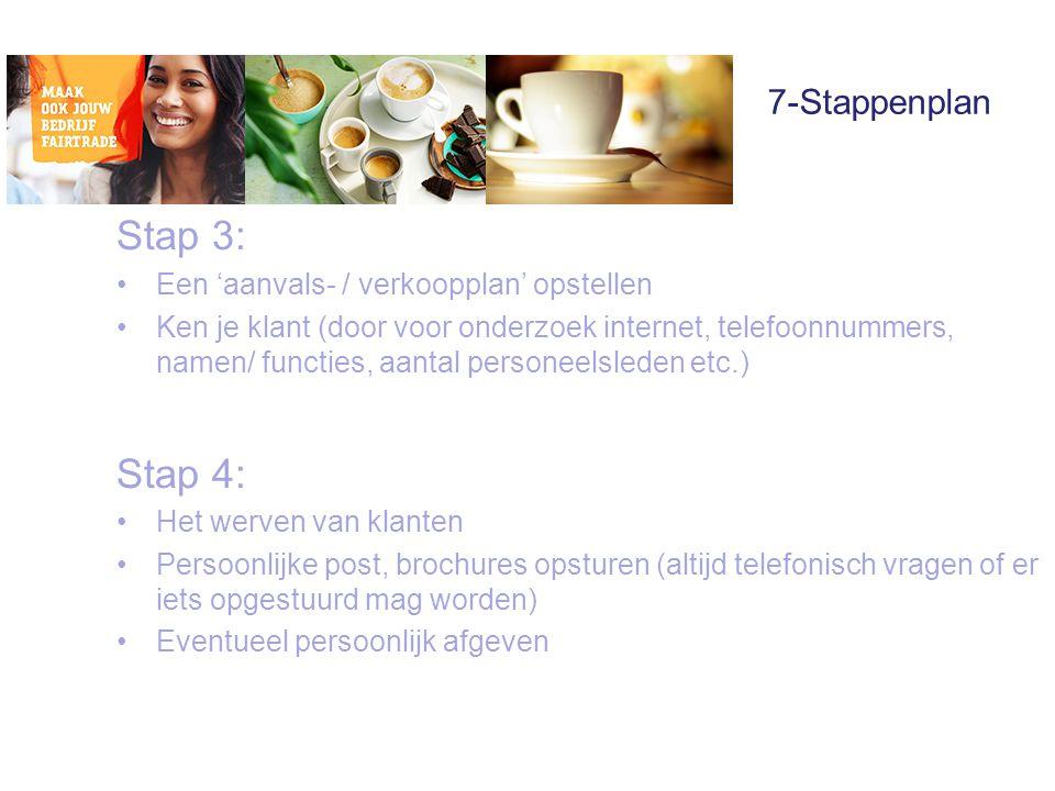 Stap 3: Stap 4: 7-Stappenplan Een 'aanvals- / verkoopplan' opstellen