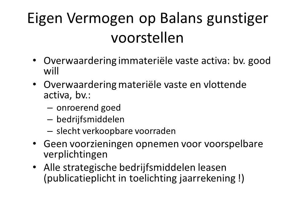 Eigen Vermogen op Balans gunstiger voorstellen