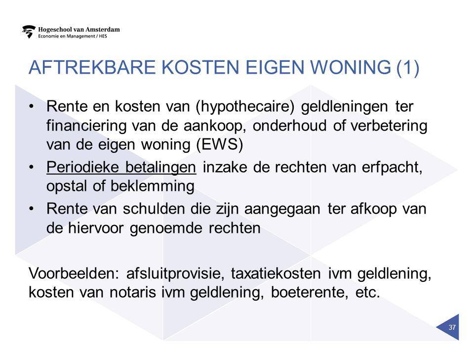 Aftrekbare kosten eigen woning (1)