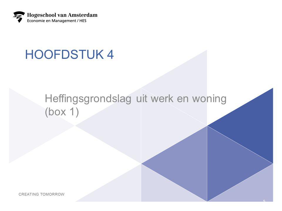 Heffingsgrondslag uit werk en woning (box 1)