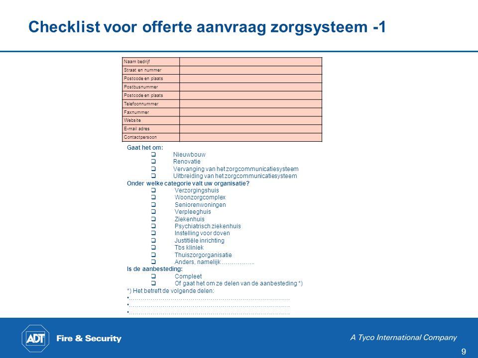 Checklist voor offerte aanvraag zorgsysteem -2