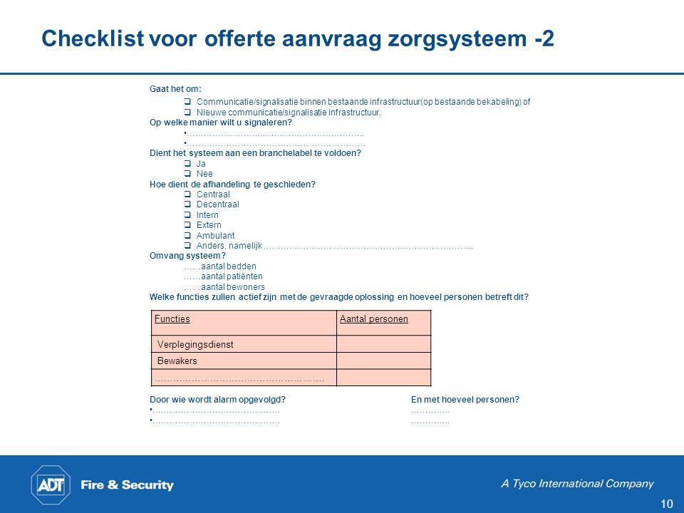 Checklist voor offerte aanvraag zorgsysteem -3