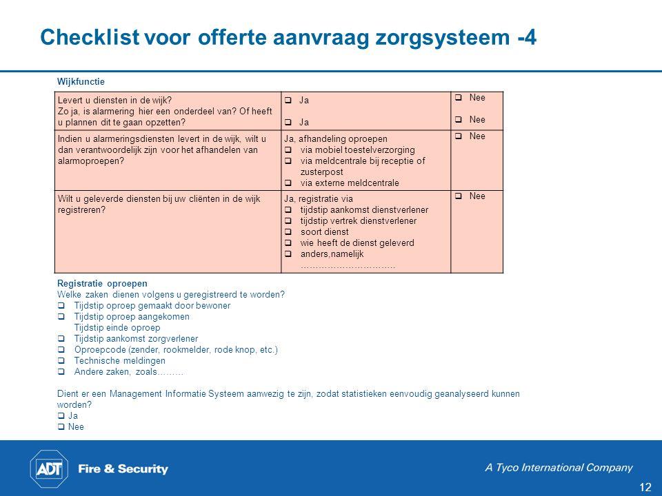 Checklist voor offerte aanvraag zorgsysteem -5