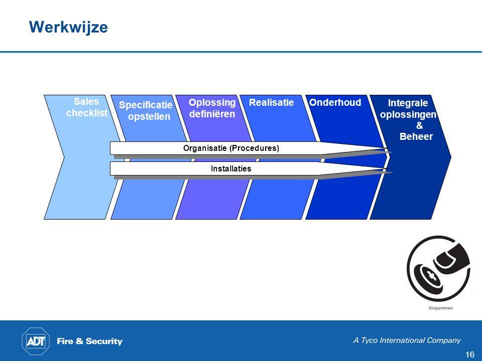 Naleving criteria De vastgelegde en vermelde criteria moeten aantoonbaar worden nageleefd door de leden van de sectie zorgsystemen;