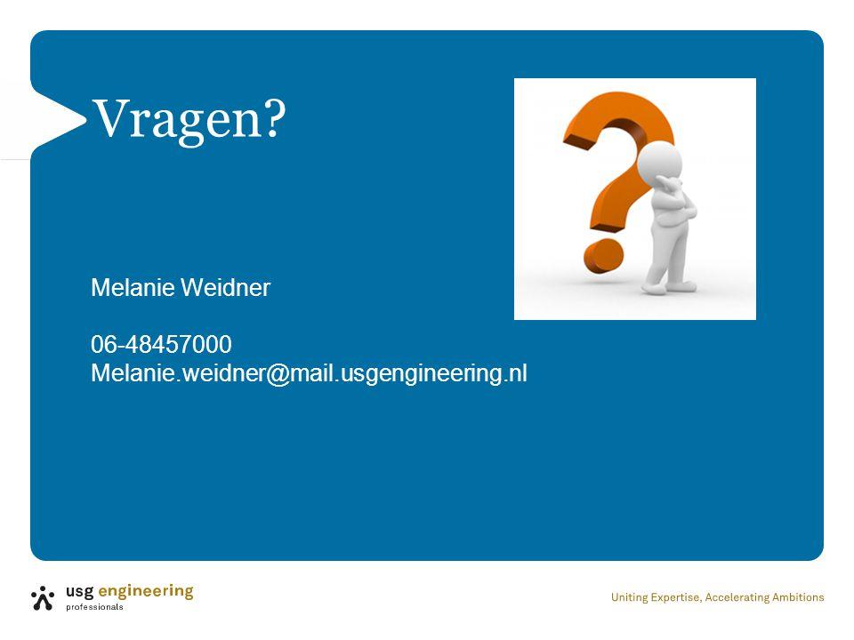 Vragen Melanie Weidner 06-48457000