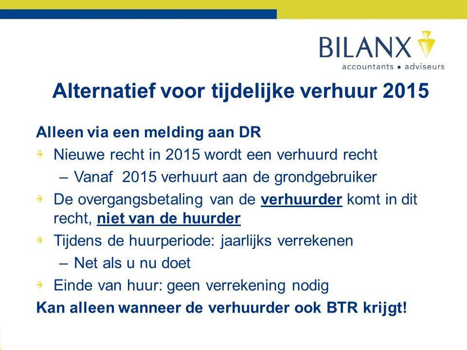 Alternatief voor tijdelijke verhuur 2015