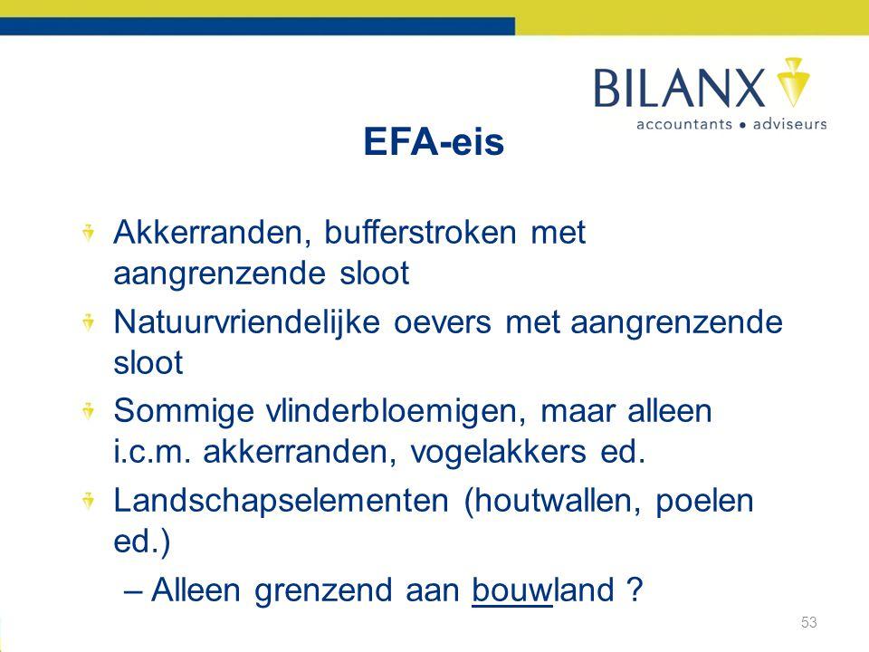 EFA-eis Akkerranden, bufferstroken met aangrenzende sloot