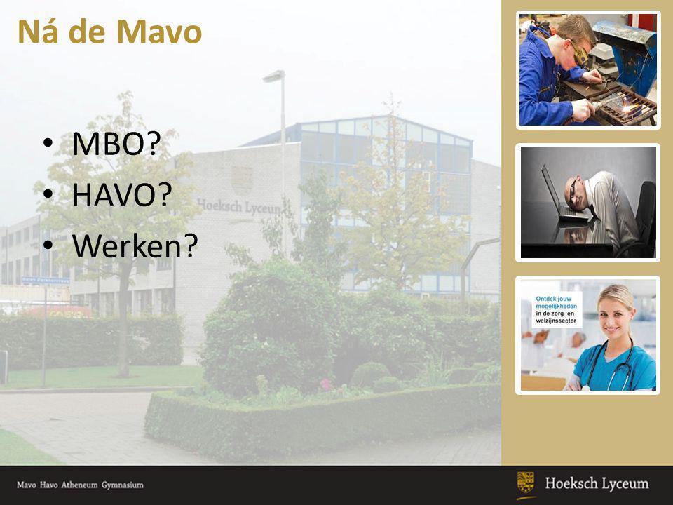 Ná de Mavo MBO HAVO Werken Keuzeonderwijs: