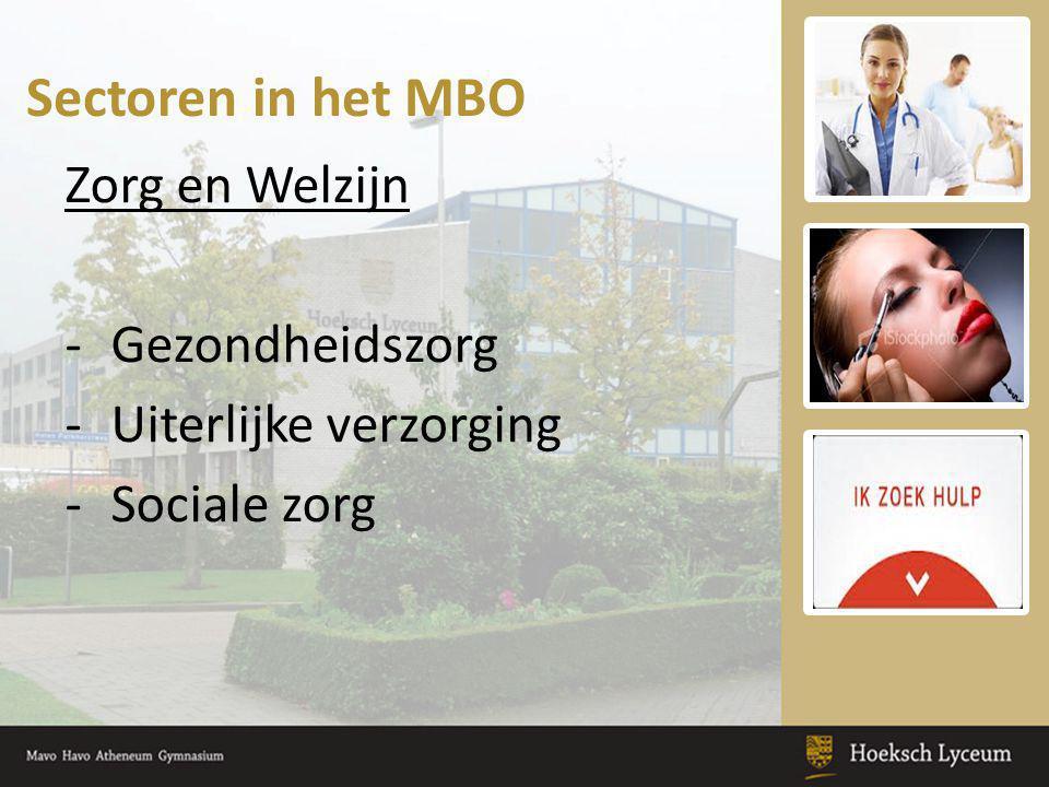 Sectoren in het MBO Zorg en Welzijn Gezondheidszorg