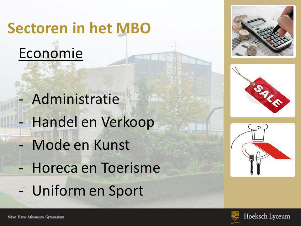 Sectoren in het MBO Economie Administratie Handel en Verkoop