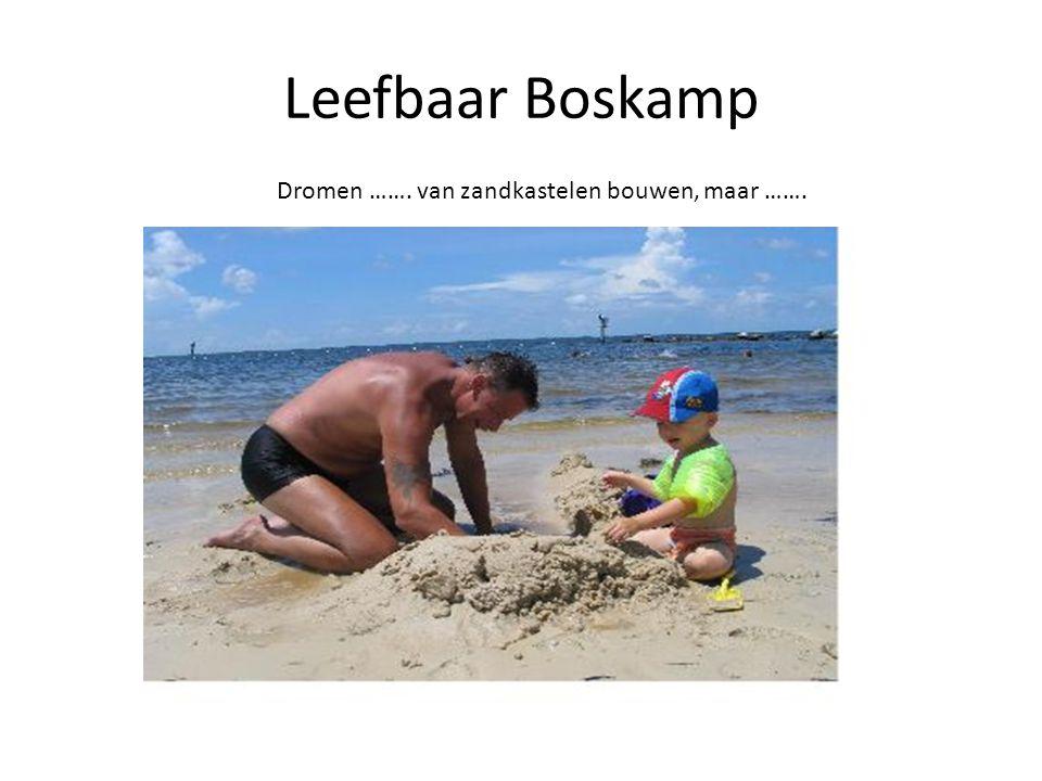 Leefbaar Boskamp Dromen ……. van zandkastelen bouwen, maar …….