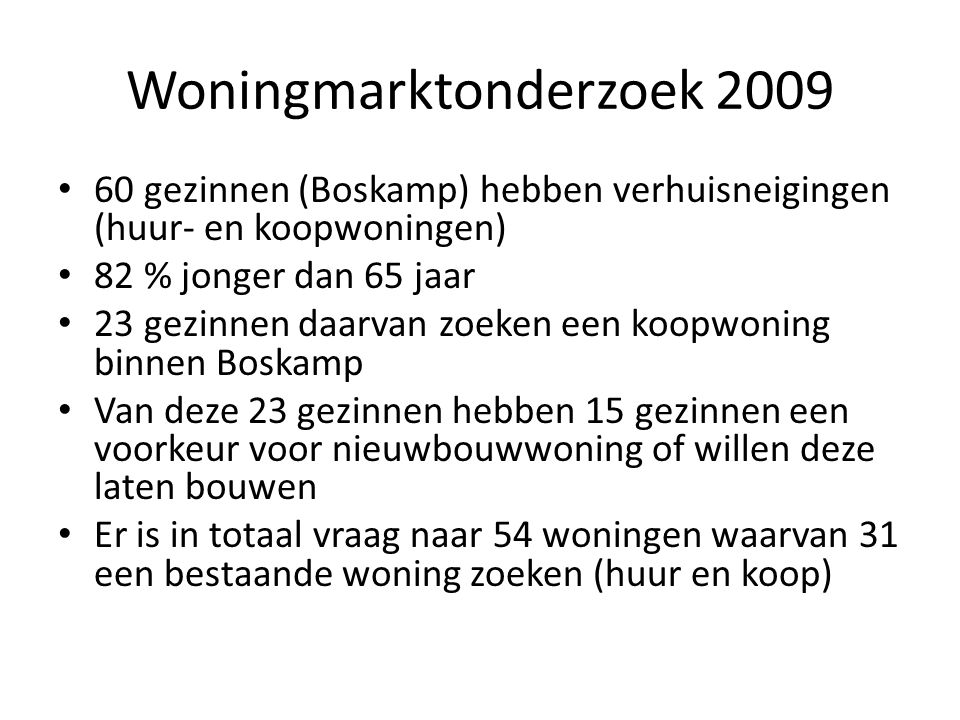 Woningmarktonderzoek 2009