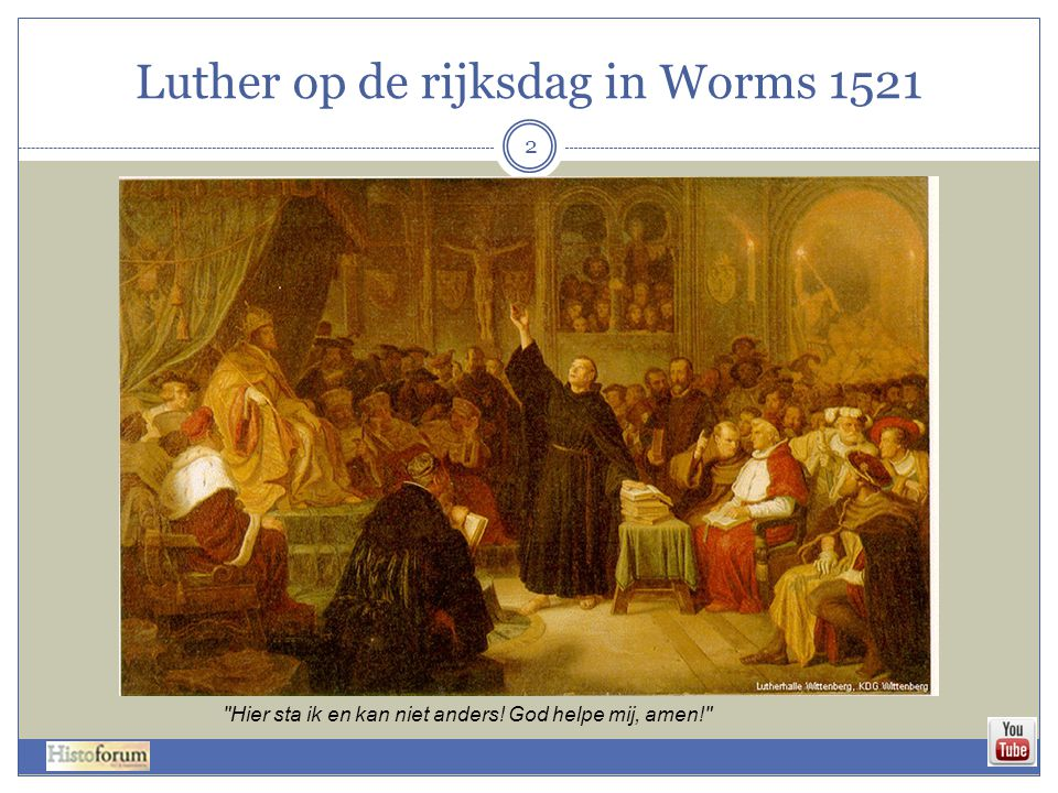 Luther op de rijksdag in Worms 1521