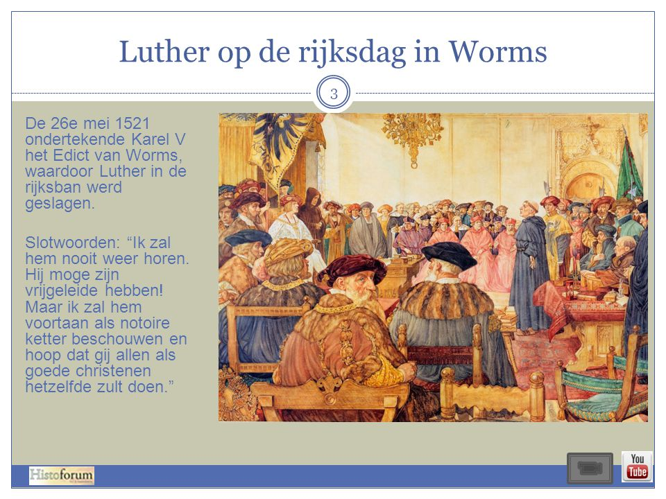 Luther op de rijksdag in Worms