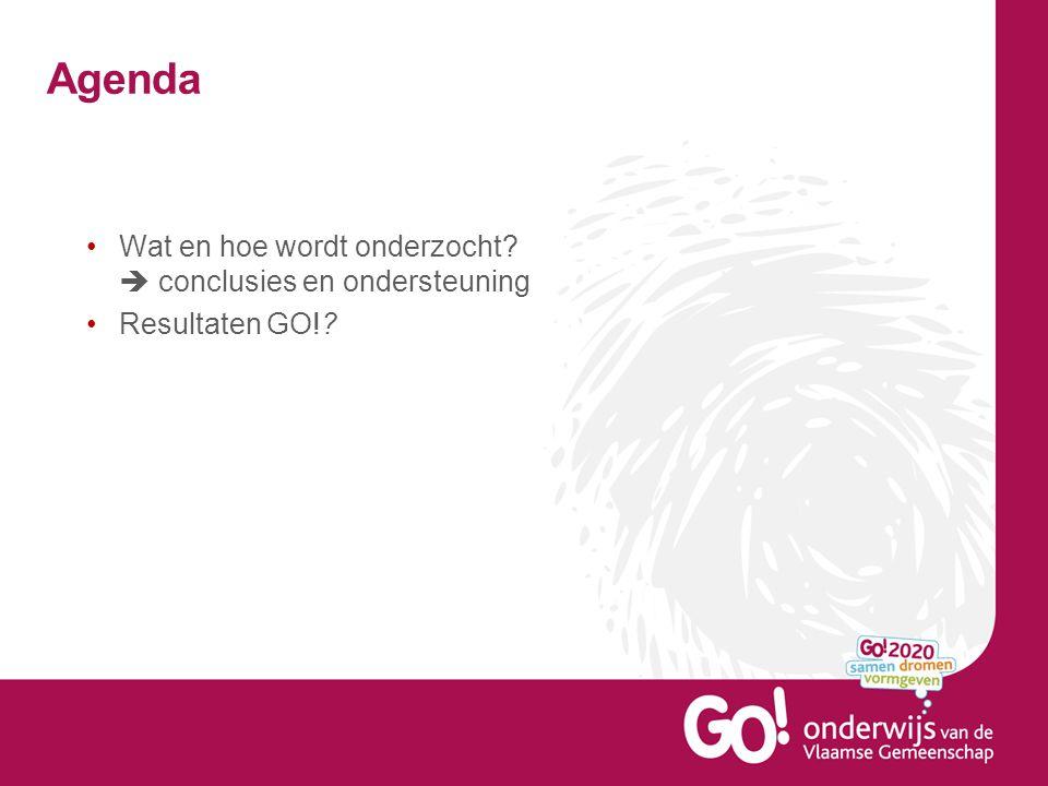 Agenda Wat en hoe wordt onderzocht  conclusies en ondersteuning