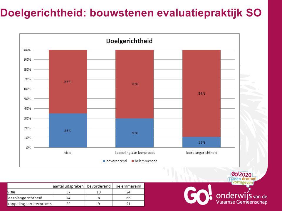 Doelgerichtheid: bouwstenen evaluatiepraktijk SO