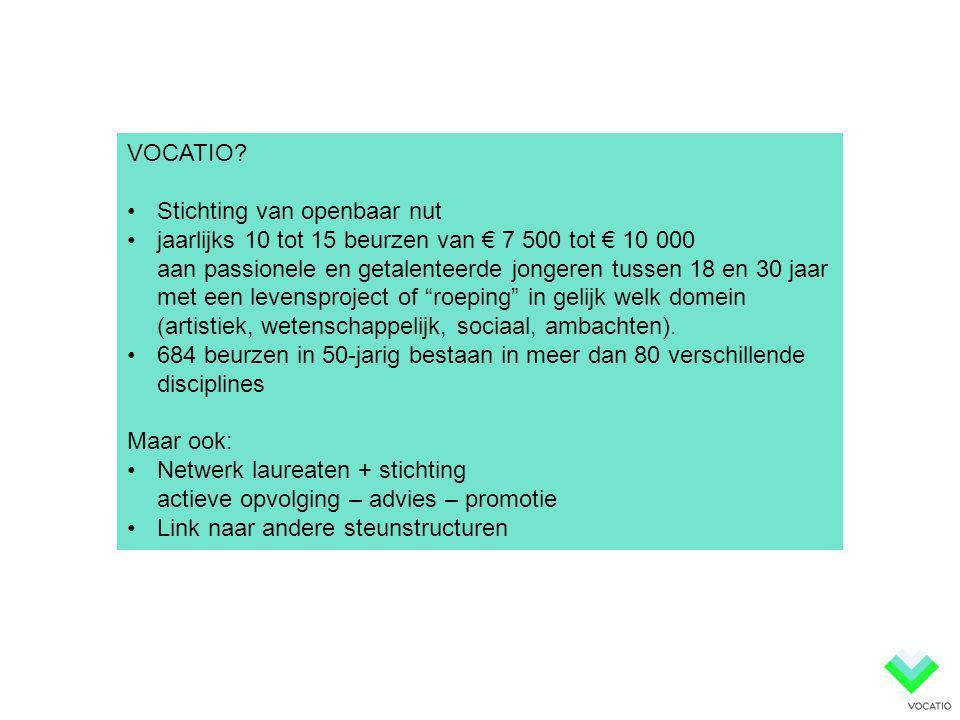 VOCATIO Stichting van openbaar nut.