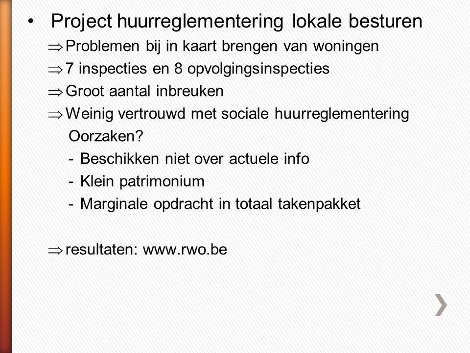 Project huurreglementering lokale besturen