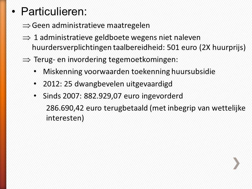 Particulieren: Geen administratieve maatregelen