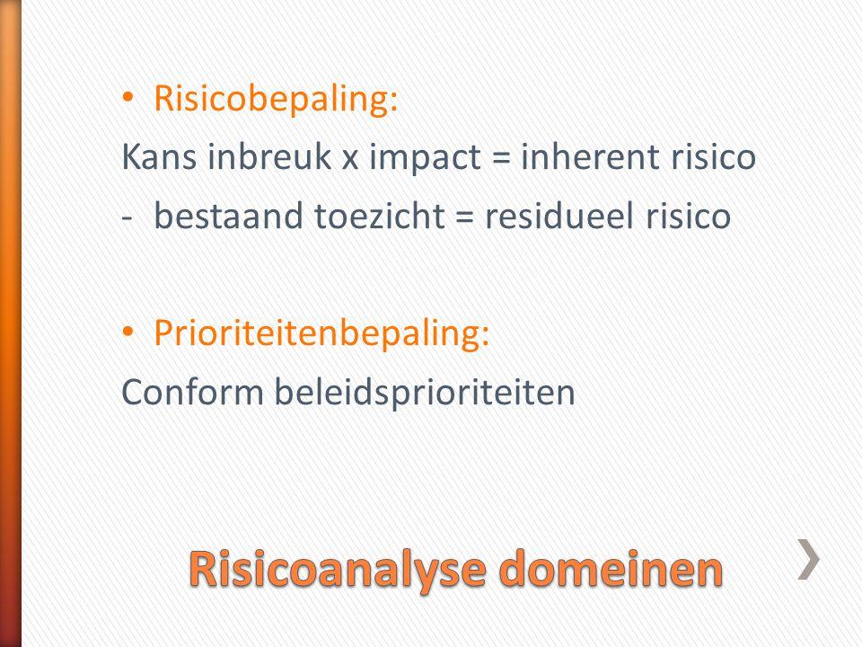 Risicoanalyse domeinen