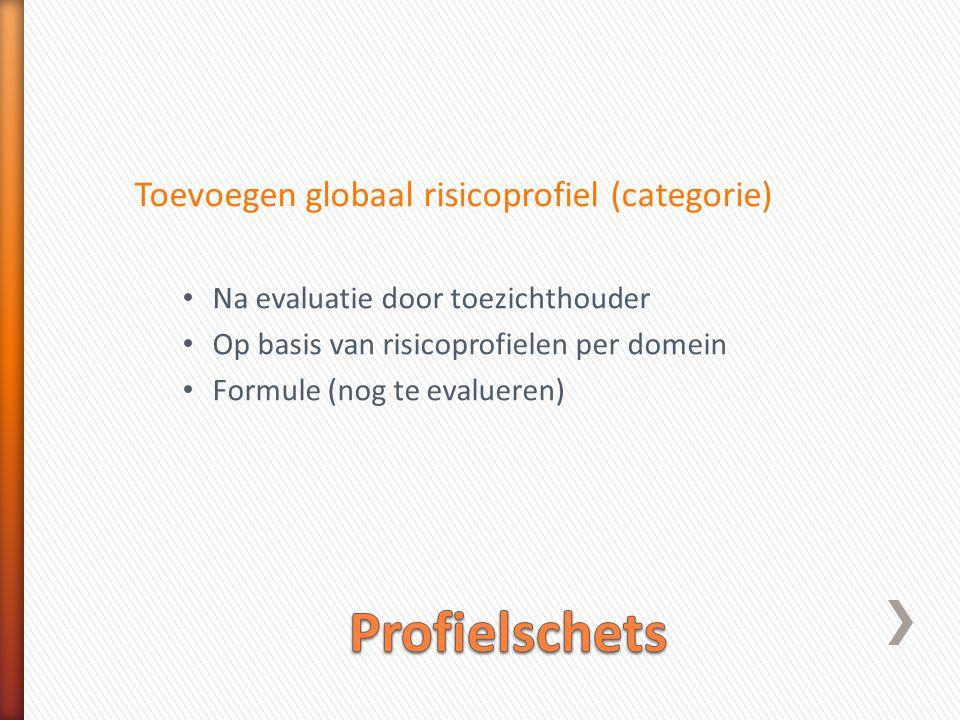Profielschets Toevoegen globaal risicoprofiel (categorie)