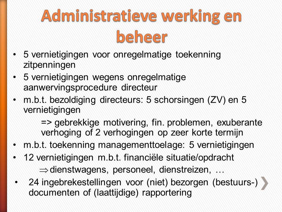 Administratieve werking en beheer