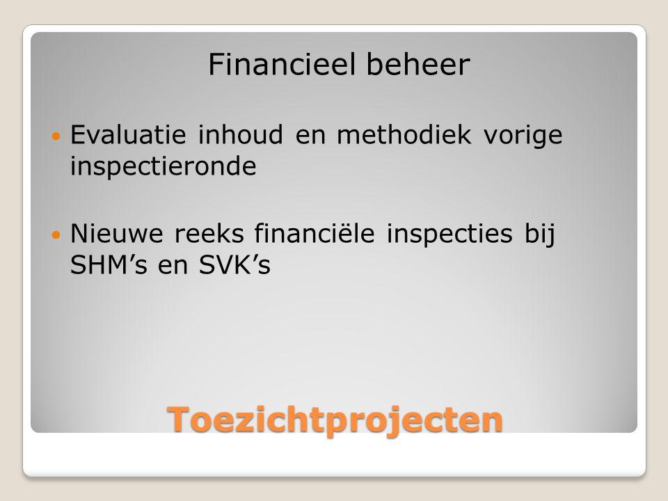 Toezichtprojecten Financieel beheer